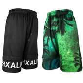 "hxalive ""unexpected"" Reversible Layered Pants【Parm Tree】Green"