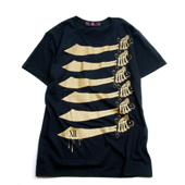 SALE!! Terrible Whore 【NAPOLEON SWORD T-shirt】 BLACK